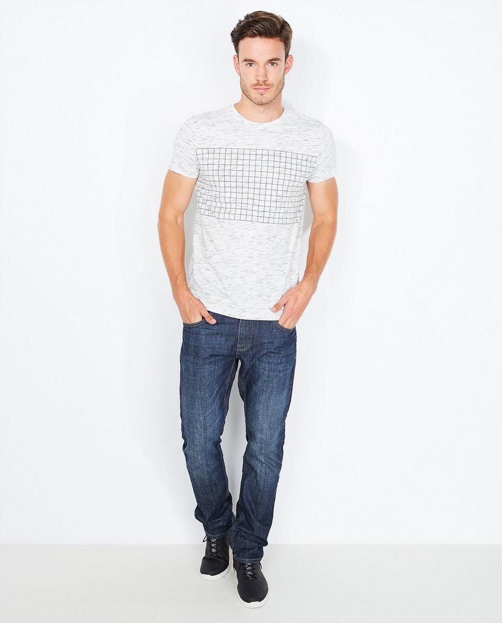 T-shirt imprimé à carreaux - gris clair - Quarterback